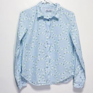 Urban Outfitters Blue Daisy Button Down Top
